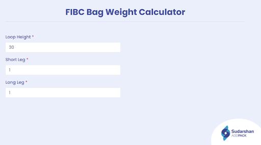 fibc bag weight calculator
